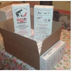 Набор годовой  12 боксов х  60 штук. - Биоразлагаемые бумажные  пакеты с совком  для уборки за собаками